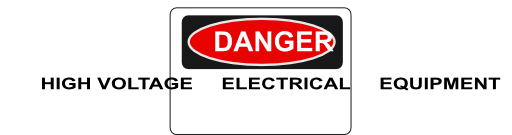 Danger High Voltage Electrical Equipment