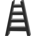 download Ladder clipart image with 90 hue color