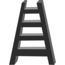 download Ladder clipart image with 0 hue color