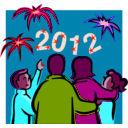download 2012 At Night Celebration clipart image with 315 hue color