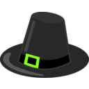 download Pilgrim Hat With Black Band clipart image with 45 hue color