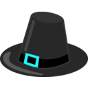 download Pilgrim Hat With Black Band clipart image with 135 hue color