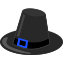 download Pilgrim Hat With Black Band clipart image with 180 hue color