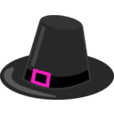 download Pilgrim Hat With Black Band clipart image with 270 hue color