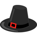download Pilgrim Hat With Black Band clipart image with 315 hue color