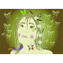 download Linda Fairy Butterflies clipart image with 45 hue color