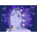 download Linda Fairy Butterflies clipart image with 225 hue color