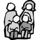 download Family clipart image with 225 hue color