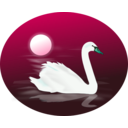 download Swan clipart image with 135 hue color