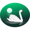 download Swan clipart image with 315 hue color