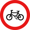 Roadsign No Cycles