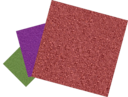 Green Purple And Red Sandpapers