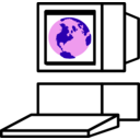 download Computerglobe clipart image with 135 hue color