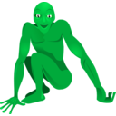 download A Friendly Alien clipart image with 45 hue color