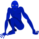 download A Friendly Alien clipart image with 135 hue color