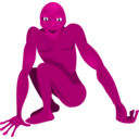 download A Friendly Alien clipart image with 225 hue color