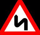 Roadsign Zigzag