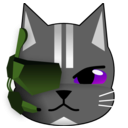 download Futuristic Cat clipart image with 225 hue color