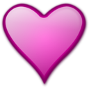download Heart Gloss 2 clipart image with 315 hue color