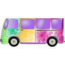 download Hippie Van clipart image with 45 hue color