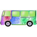 download Hippie Van clipart image with 225 hue color