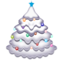 download Christmas Tree clipart image with 135 hue color