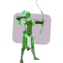 download Elven Archer clipart image with 90 hue color