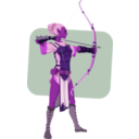 download Elven Archer clipart image with 270 hue color