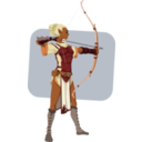 download Elven Archer clipart image with 0 hue color