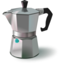 download Italian Coffee Maker clipart image with 135 hue color