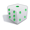 download Dice 3d clipart image with 135 hue color