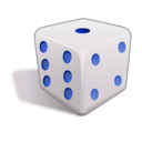 download Dice 3d clipart image with 225 hue color