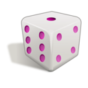 download Dice 3d clipart image with 315 hue color