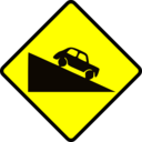 Caution Steep Hill Down