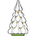 download Snowy Xmas Tree clipart image with 45 hue color