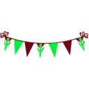 download Jubilee Bunting clipart image with 135 hue color