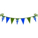 download Jubilee Bunting clipart image with 225 hue color