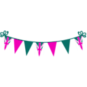 download Jubilee Bunting clipart image with 315 hue color
