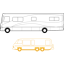 download Two Motorhomes clipart image with 45 hue color