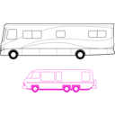 download Two Motorhomes clipart image with 315 hue color
