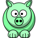 download Pig2 clipart image with 135 hue color