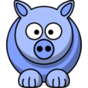 download Pig2 clipart image with 225 hue color