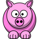 download Pig2 clipart image with 315 hue color