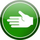 Green Cirlce Hand Icon