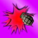 download Grenade Explosion clipart image with 315 hue color