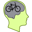 download Bicycle For Our Minds clipart image with 45 hue color
