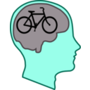 download Bicycle For Our Minds clipart image with 135 hue color