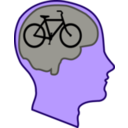 download Bicycle For Our Minds clipart image with 225 hue color