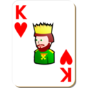 White Deck King Of Hearts