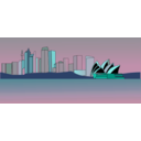 download Sydney Skyline clipart image with 135 hue color